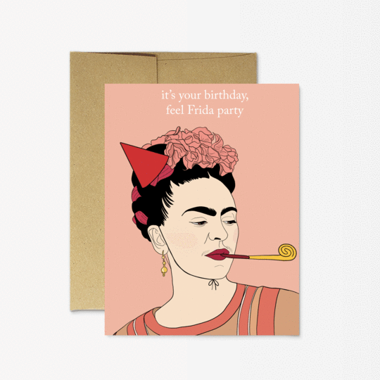 Party Mountain Paper co. - Frida Birthday Card
