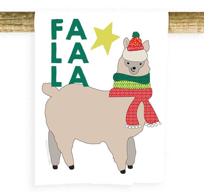 Potluck Press - Fa La La Llama Towel