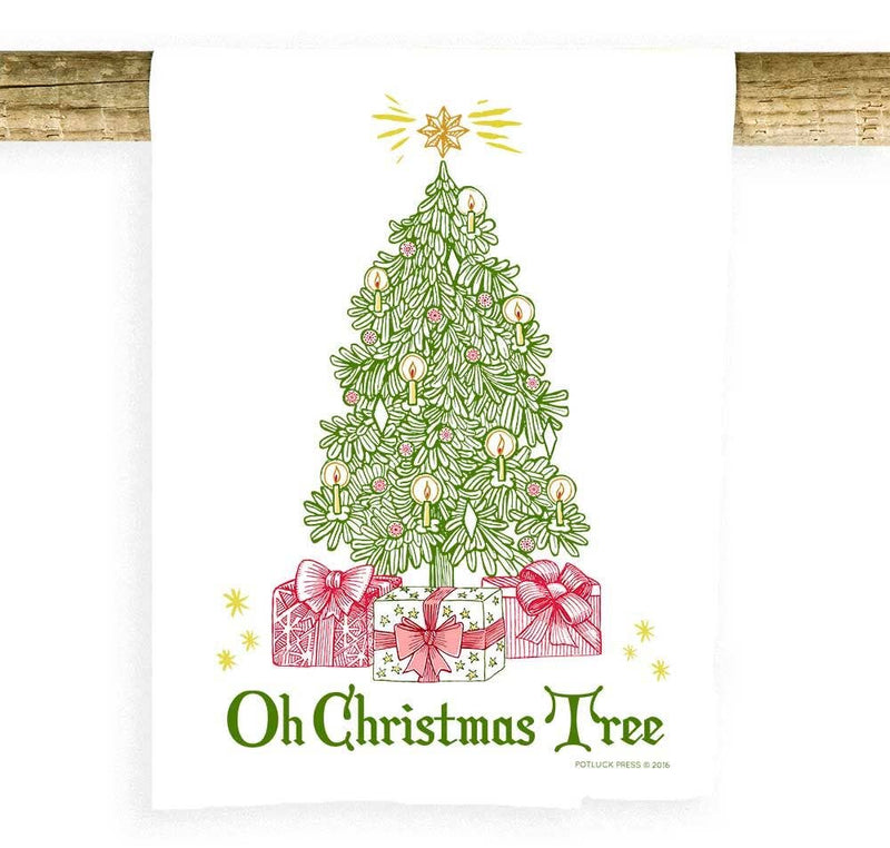 Potluck Press - Oh Christmas Tree Towel