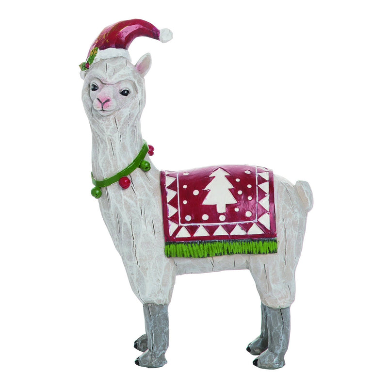 Transpac - Resin Christmas Merry Llama Figurine