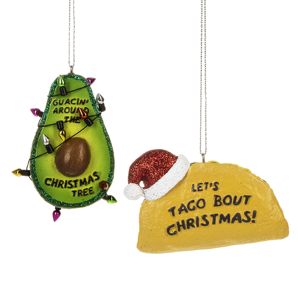 Taco/Avocado Ornament