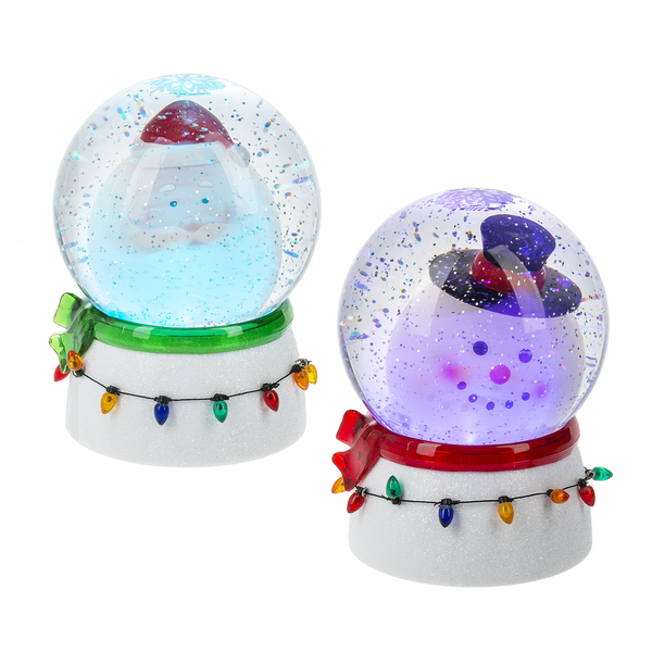 Led Bobble Head Santa/Snowman