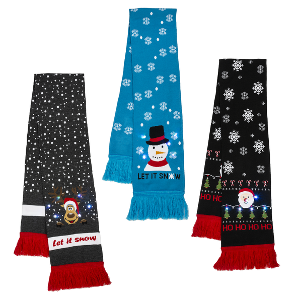 Light up Scarf HoHO/Snow/Snowman