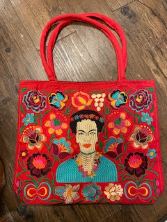 Frida Embroidered Tote Bags Made in Oaxaca