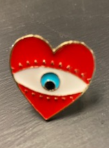 Red Heart with Eye Ring