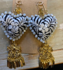 Artesenal Earrings San Antonino Embroidery with Filigrana