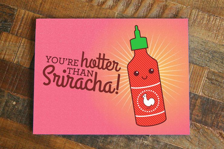 Tiny Bee Cards - You're Hotter Than Sriracha Card