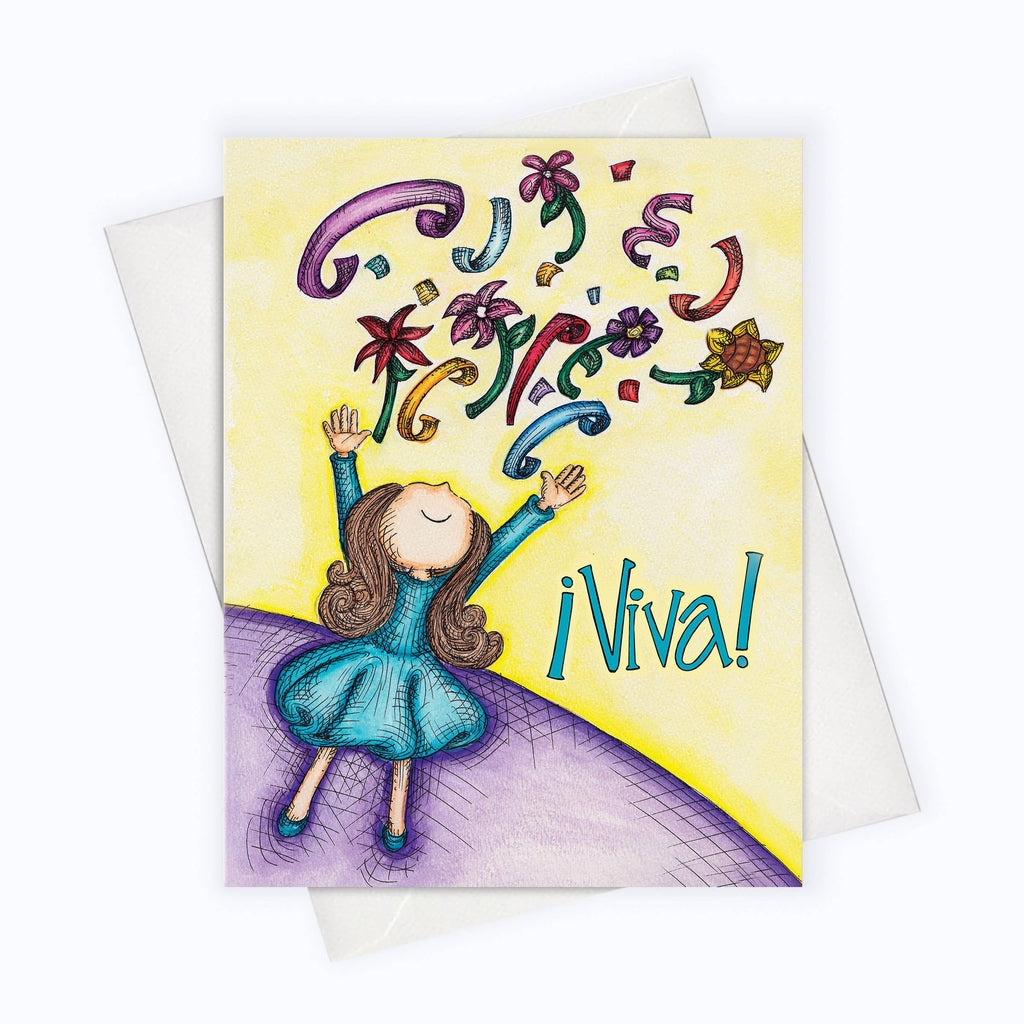About A Cloud Stationery & Gifts - SPANISH CARD | Viva Card | Celebration Spanish Card