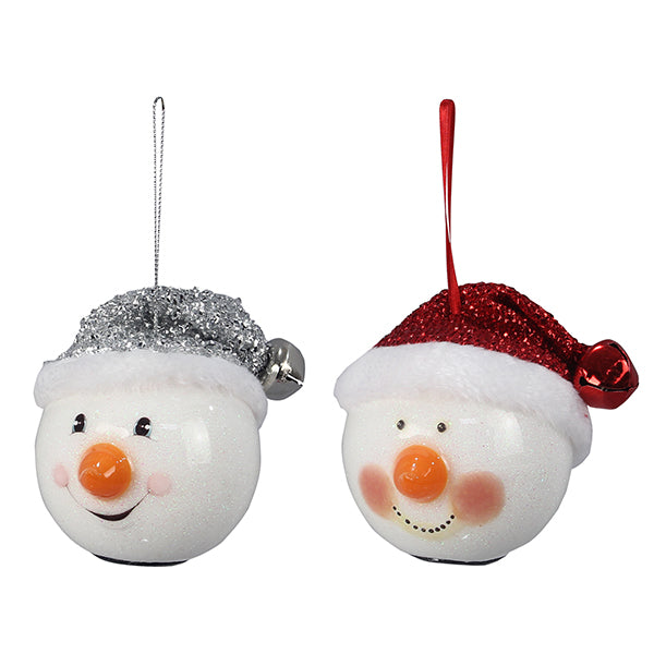 LED Light-Up Snowman Ornament