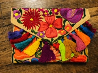 Oaxacan Embroidered Clutch