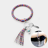 Serape Tassel Key Ring