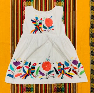 Girls Otomi Dress Hand Embroidered