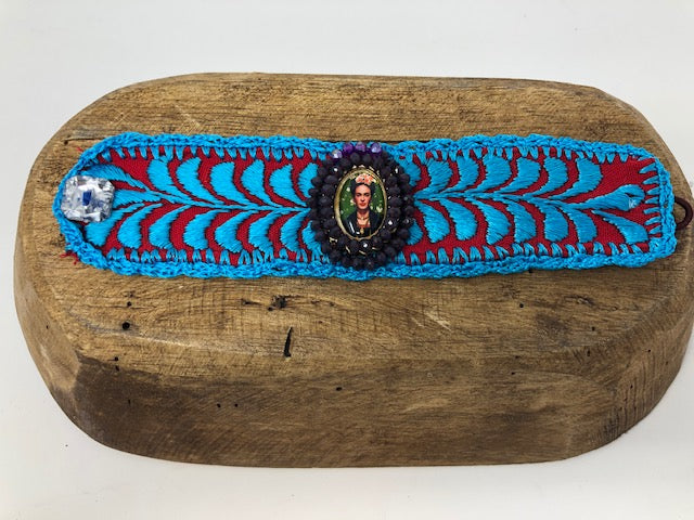 Beautiful Frida Kahlo Bracelet Handcrafted in Mexico by local artisans of Oaxaca