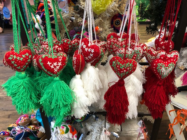 Mexican Red Heart Christmas Ornanament