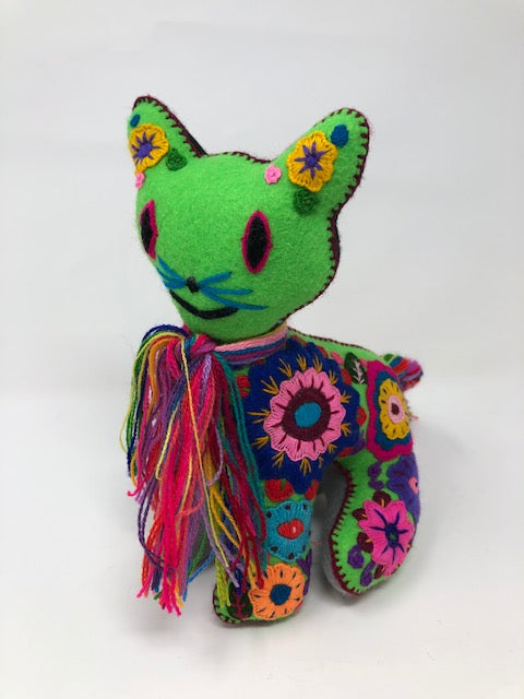 Animals hand embroidered imported from Mexico