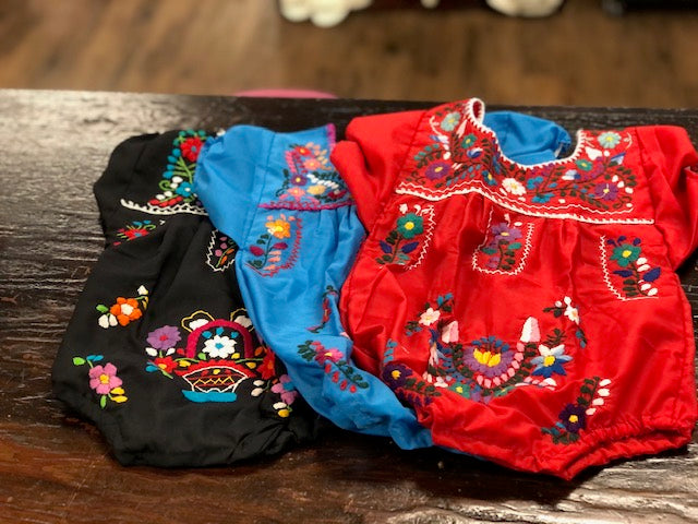 Baby Mexican Embroidered Rompers