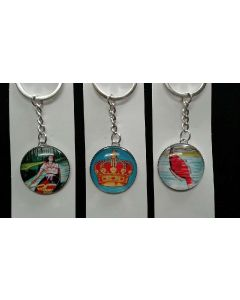 Loteria Key Chains Round Charm