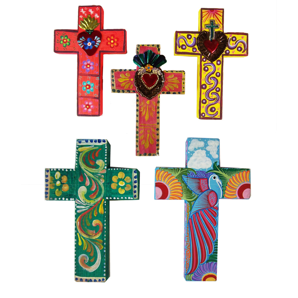 Hand Painted Wooden Cross