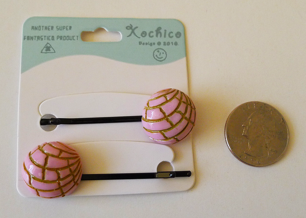 RESIN CONCHA BOBBY PINS