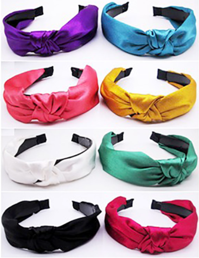 Velvet Knot Headbands - Pearl Face Mask Holder