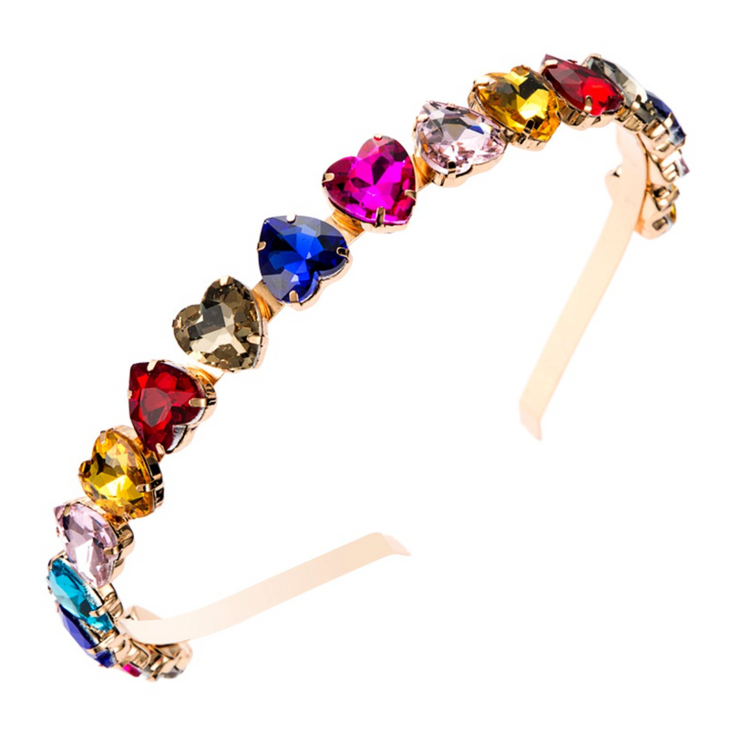 Heart Shaped Gem Headbands