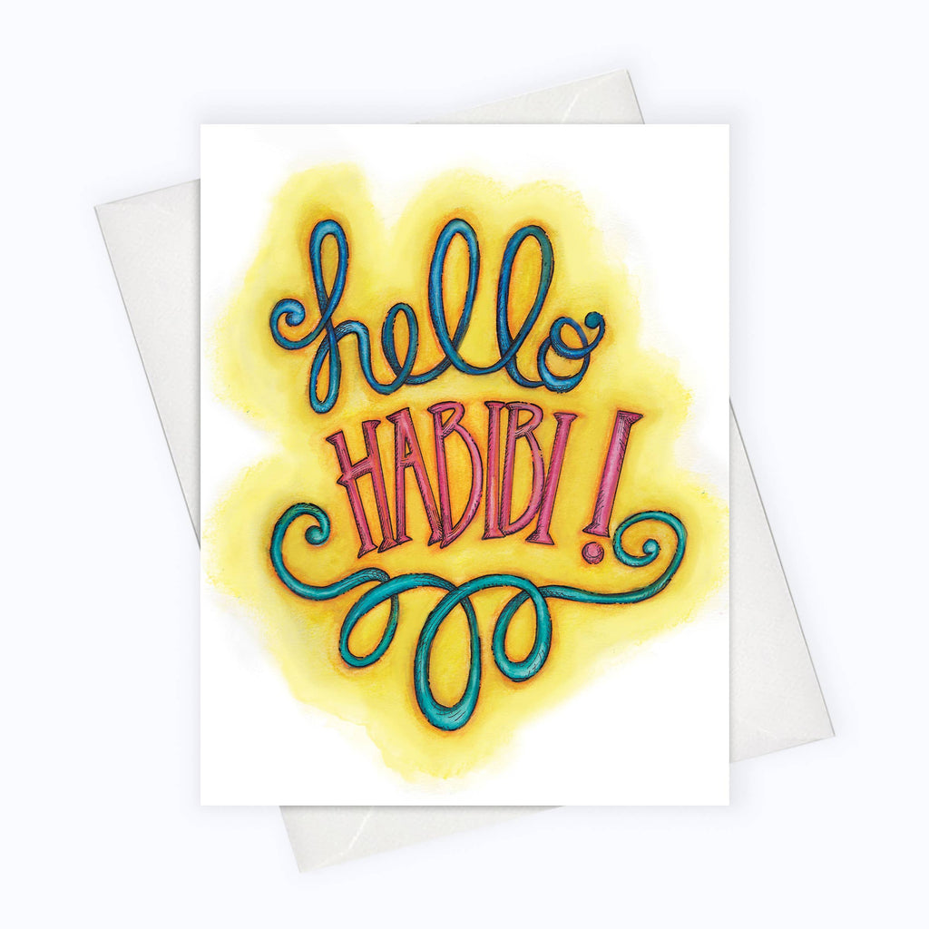 About A Cloud Stationery & Gifts - HELLO HABIBI CARD | Arabic Love Greeting Card