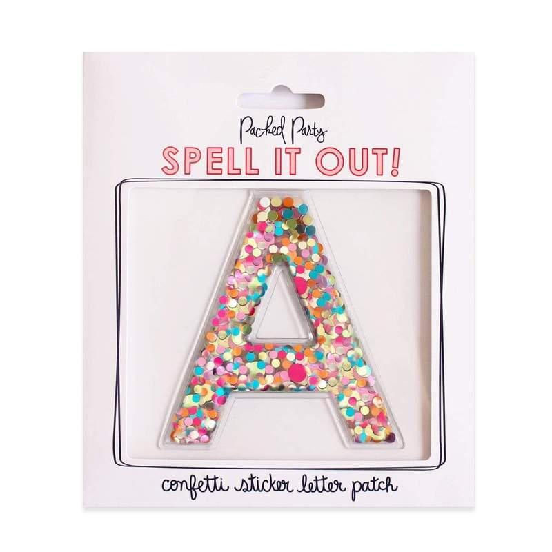 Packed Party Confetti Letters