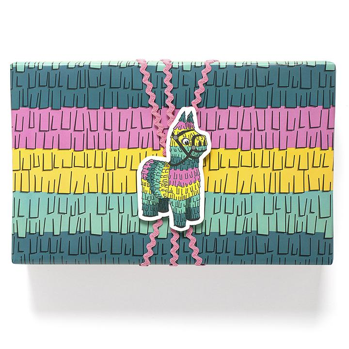 Smarty Pants Paper - Piñata Fringe Wrapping Paper