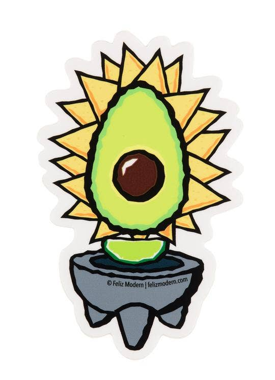 FELIZ MODERN - Avocado Sticker