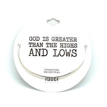 JAECI - God Is Greater Than The Highs And Lows Bangle