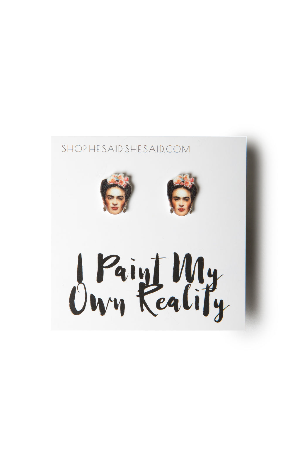 He said, She said - Frida Kahlo Earrings