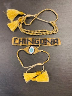 Chingona 3 piece Bracelet with Eye
