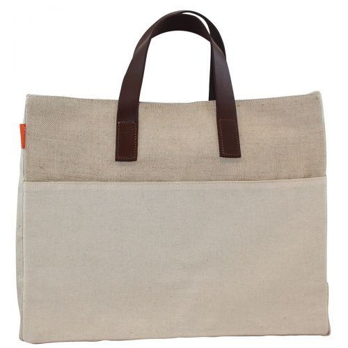 Jute Natural Book Tote w/ Monogram