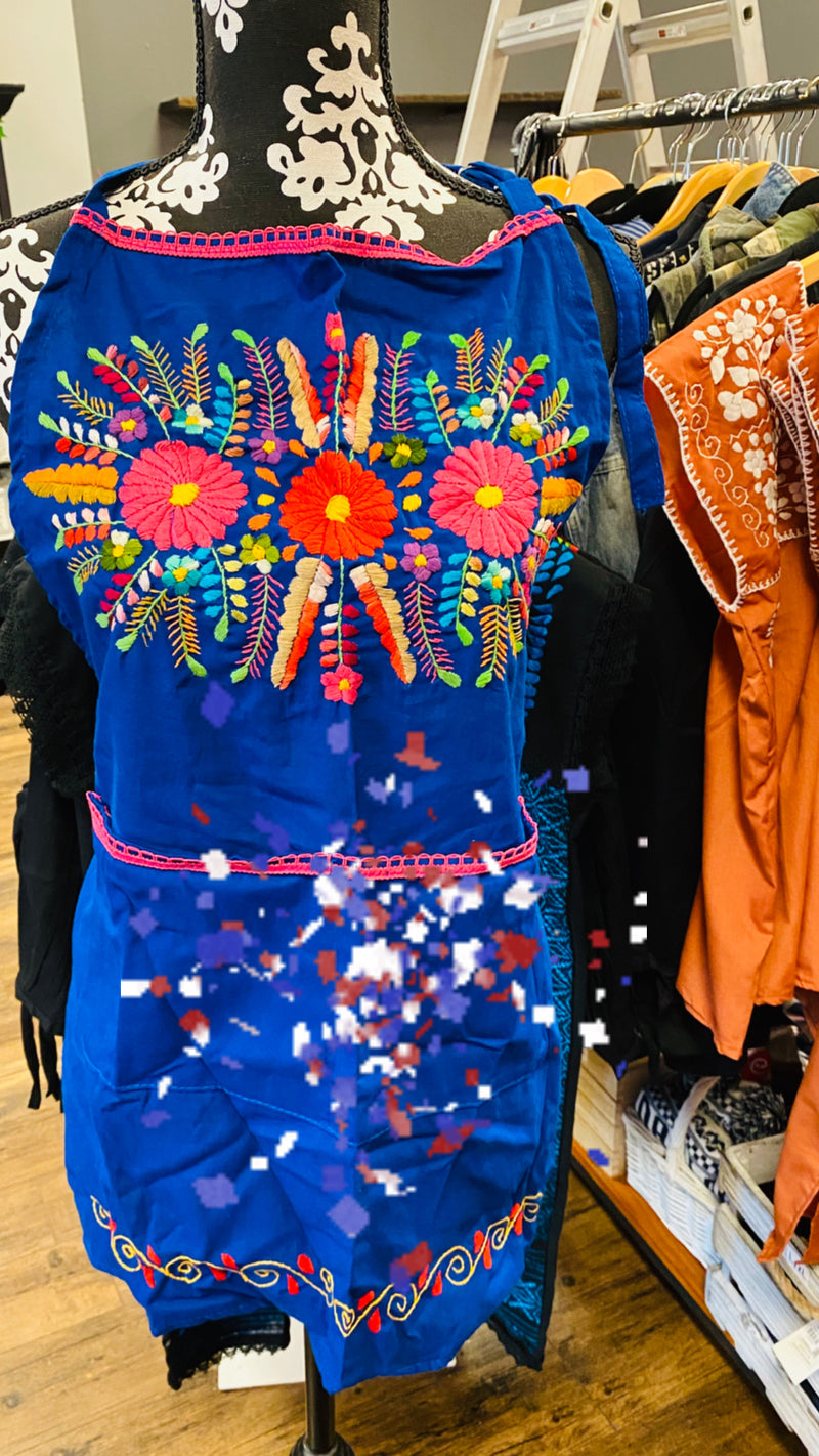 Embroidered Apron Artesenal made in Oaxaca