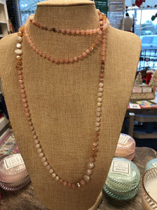 Beaded nude necklace