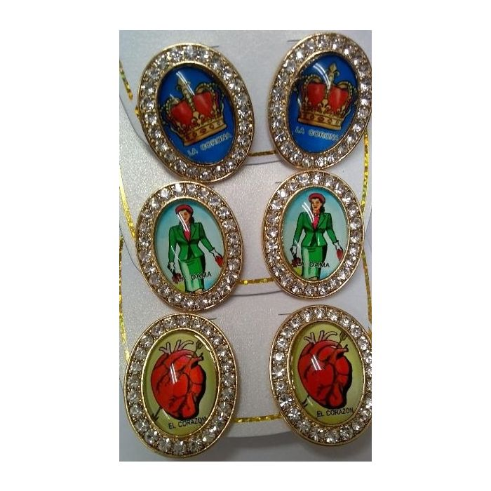 Loteria Rhinestone Earrings