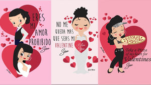 Selena small valentines cards