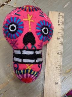 Calavera Colgante 5 inches Assorted Colors
