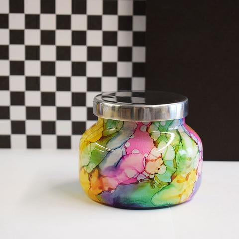 Volcano Rainbow Watercolor Petite jar candle