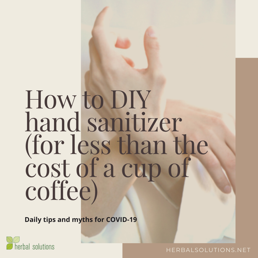 How to make your own hand sanitizer for less than the cost of a cup of coffee