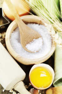 Salty Facts: Salt Is Salt and Fresh ingredients for baking Image
