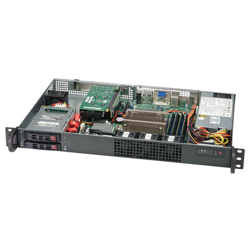 Supermicro 1019C-HTN2 Xeon E-2100 1U Rackmount w/ Dual GbE LAN, Support for 3 x Independent Displays