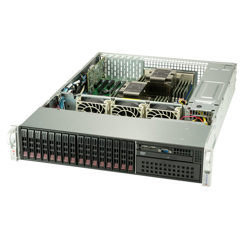 Supermicro SuperServer 2029P-C1R Dual Intel Xeon CPU, 2U Rackmount, 8x SAS3 and 8x SATA3 Hot Swap Drive Bay, 4x PCI-E x16 Expansion, Redundant PSU
