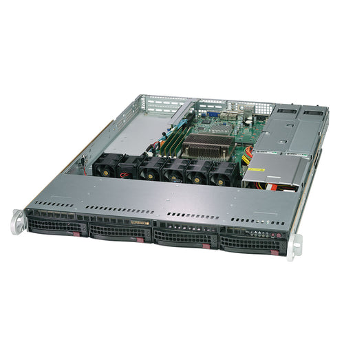 "Supermicro 5019C-WR Xeon E-2100 Front I/O 1U Rackmount w/ Dual GbE LAN, 4 x 3.5"" Drive Bays, Redundant Power Supply"