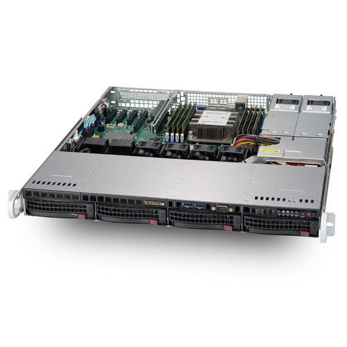 "VMware Certified - Supermicro SYS-5019P-MTR Intel Xeon Scalable 1U Rackmount w/ 4 x 3.5"" Drive Bays"