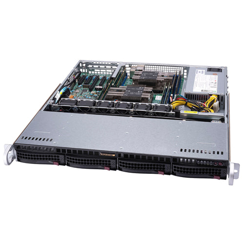 "Supermicro SuperServer 6019P-MT Dual Intel Xeon CPU 1U Rackmount, 4x 3.5"" Hot-swap bays"