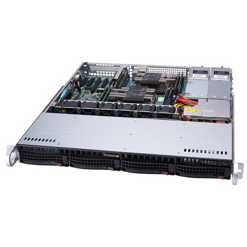 "Supermicro SuperServer 6019P-MTR Dual Intel Xeon CPU 1U Rack, 4x 3.5"" Hot-swap bays, Redundant PSU"