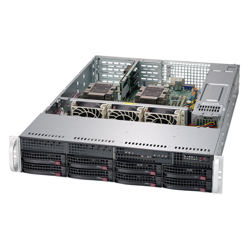 "Supermicro SuperServer 6029P-WTR Dual Intel Xeon CPU, 2U Rackmount, 8x 3.5"" Hot-swap bays, 2x fixed 3.5"" drive bays, Redundant PSU"