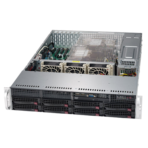 "Supermicro SuperServer 6029P-TR Dual Intel Xeon CPU, 2U Rackmount, 8x 3.5"" Hot-swap bays, Redundant PSU"