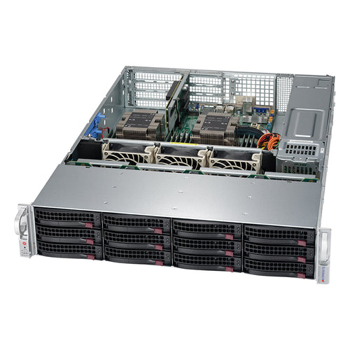 "Supermicro SuperServer 6029P-WTRT Dual Intel Xeon CPU, 2U Rackmount, 12x 3.5"" Hot-swap bays with 4x NVMe Support, Dual 10GbE LAN, Redundant PSU"